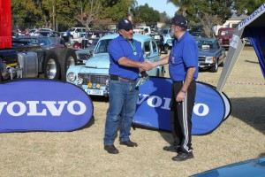 Founder of the Volvo Walk to Vryheid and Honorary Life member Andre de Haan (on the right) with Deon.