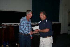 Leon Spoor receiving his Honorary membership. Leon was one of the founding members of the Club in 1981.